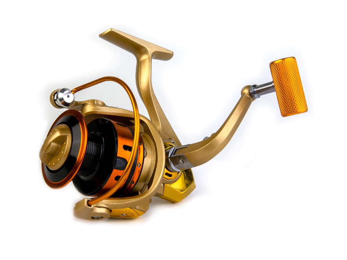 Molinete MR 1000 Alumínio - 10 rolamentos  - Comprando & Pescando