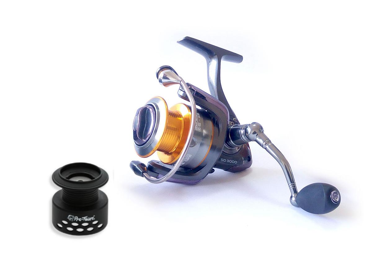 Molinete Pro-Tsuri Sode SD 2000 Velocidade de 5.1:1 com 7 Rolamentos  - Comprando & Pescando