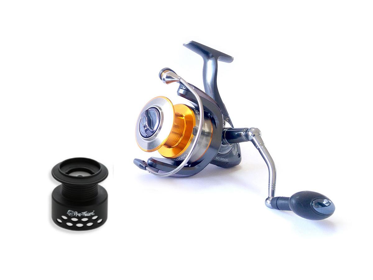 Molinete Pro-Tsuri Sode SD 5000 Velocidade de 5.1:1 com 7 Rolamentos  - Comprando & Pescando