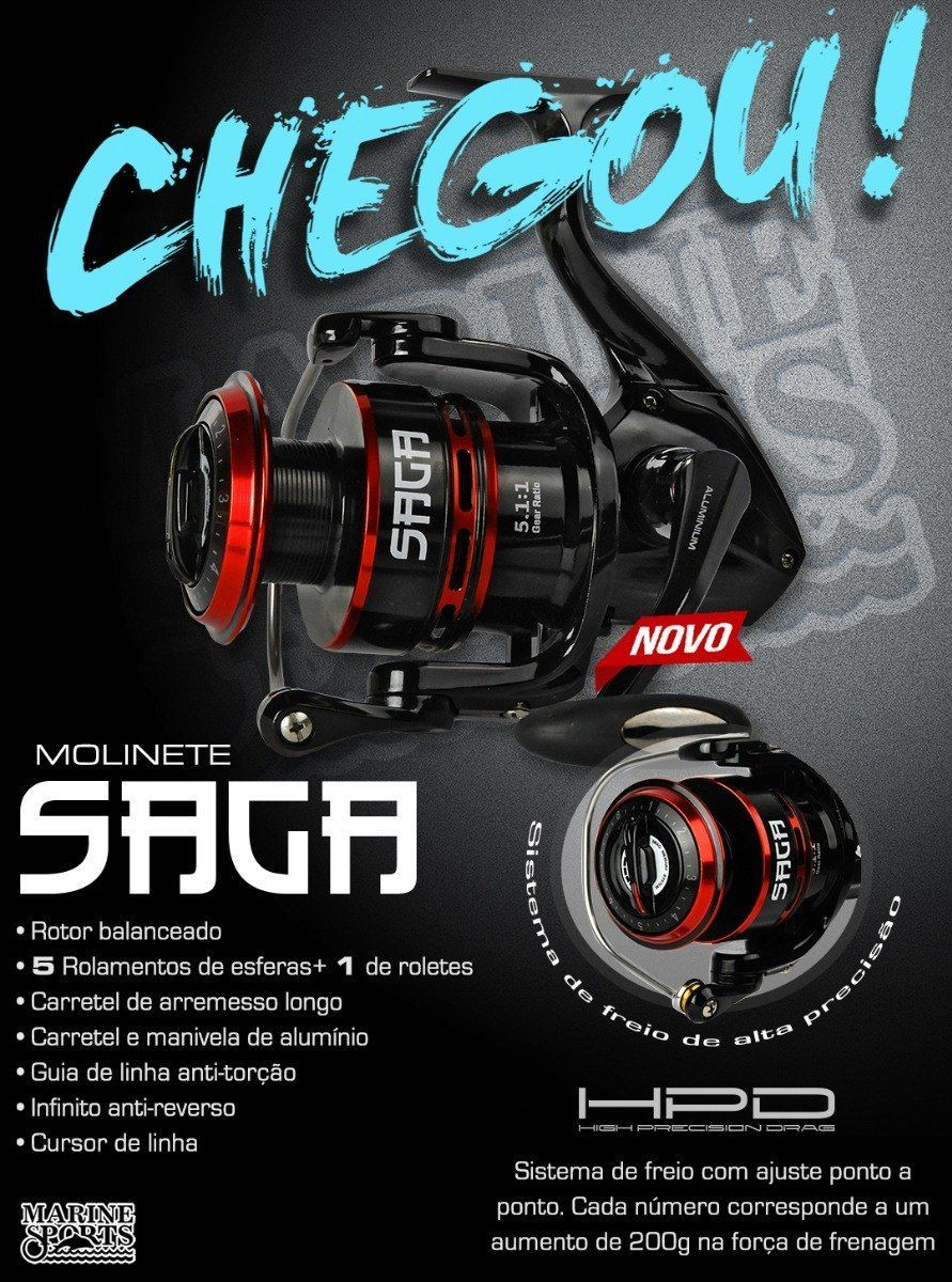Molinete Saga 3000 Marine Sports  - Comprando & Pescando