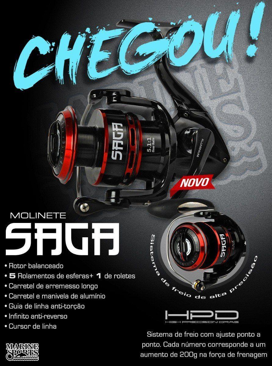 Molinete Saga 5000 Marine Sports  - Comprando & Pescando