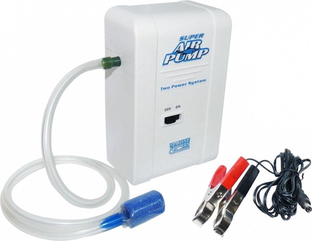 Oxigenador Marine Sports Super Air Pump para iscas vivas 12v  - Comprando & Pescando