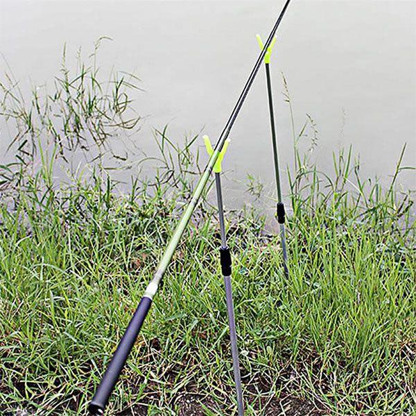 Suporte Vara de Pesca Ajustável em Aluminio p/ 2 Varas  - Comprando & Pescando