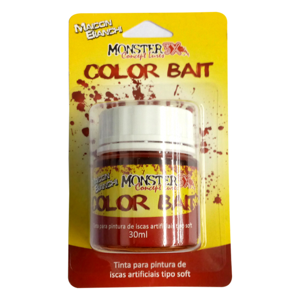 Tinta para Isca Soft Color Bait Monster 3X  - Comprando & Pescando