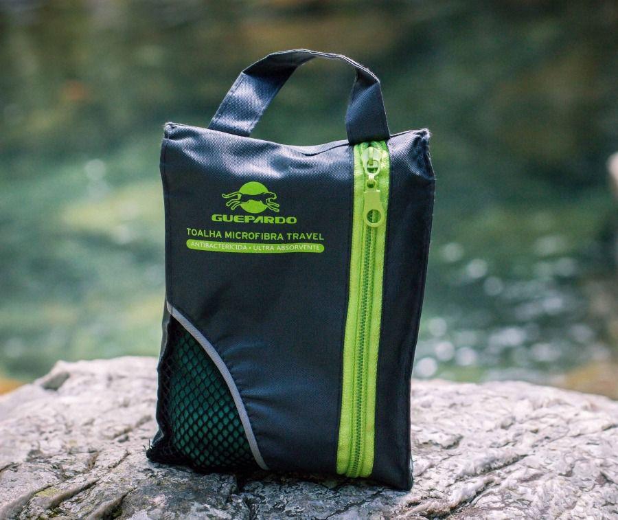 Toalha Microfibra Travel Guepardo Verde  - Comprando & Pescando