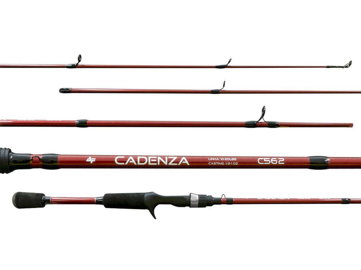 Vara Carretilha Albatroz Cadenza 562 (1,68m - 20lbs) 2 partes  - Comprando & Pescando
