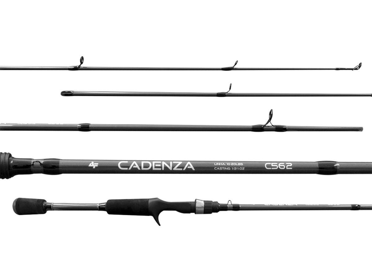 Vara Carretilha Albatroz Cadenza 602 (1,80m - 17lbs) 2 partes  - Comprando & Pescando
