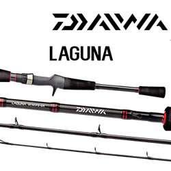 Vara Carretilha Daiwa Laguna 602 (1,83 mts / 12-25lbs ) 2 partes  - Comprando & Pescando