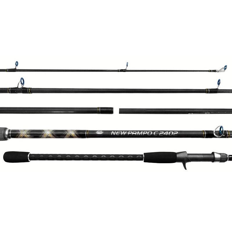 Vara Carretilha New Pampo Albatroz (2,70mts / 20-50lbs) 2 partes  - Comprando & Pescando