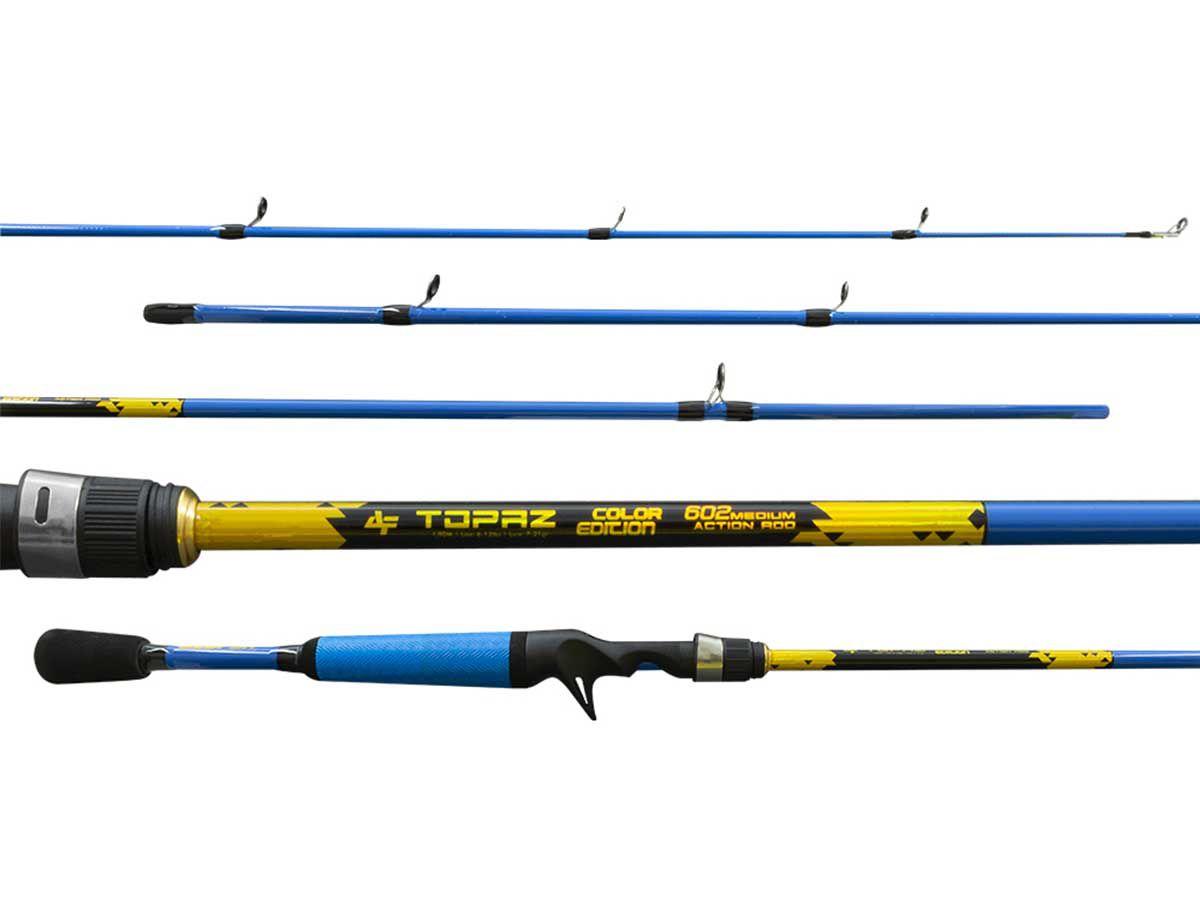 Vara p/ Carretilha Topaz Color Edition 562 Albatroz  6-12Lb (1,70mt - 2 Partes)  - Comprando & Pescando