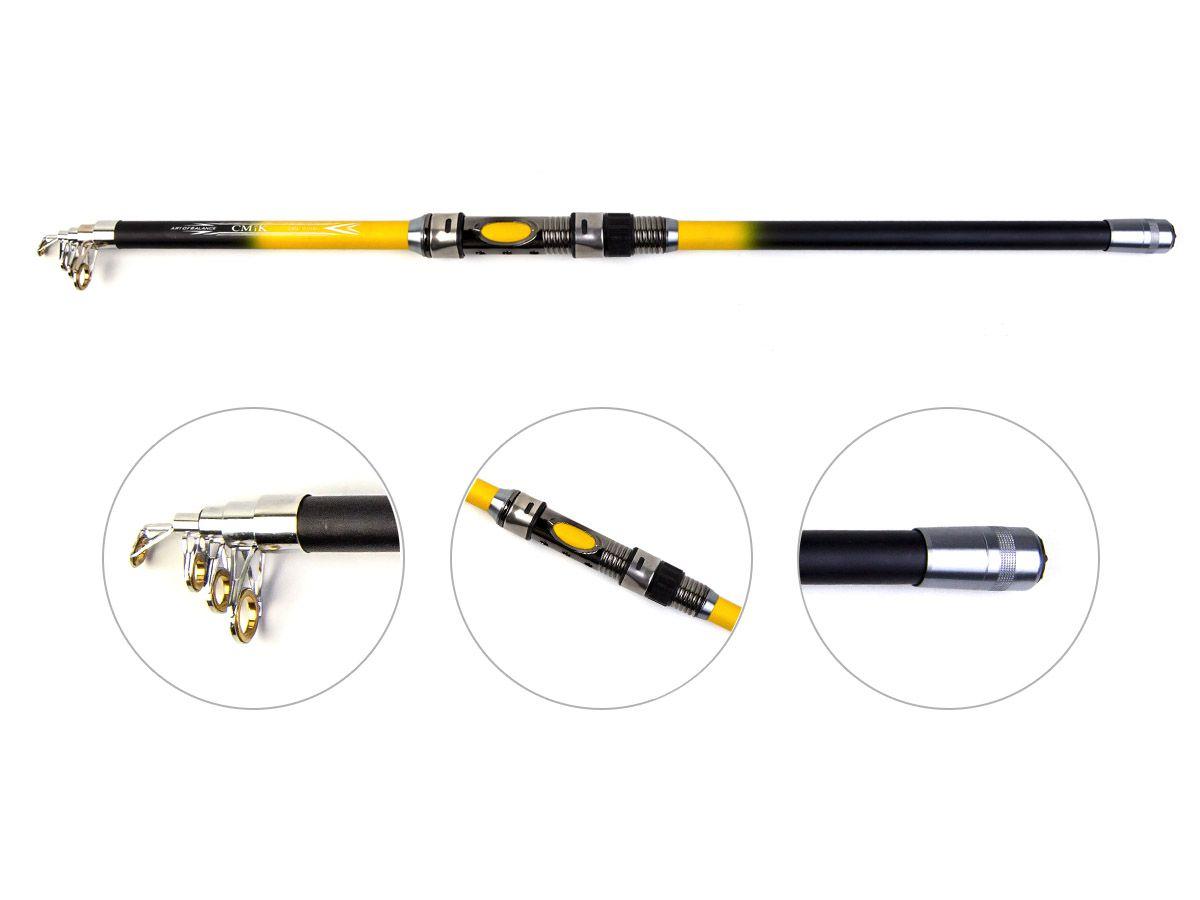 Vara Telescópica para Molinete com passador CMIK (2,70mt - 13lbs)  - Comprando & Pescando