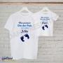 Camiseta Meu Primeiro Dia dos Pais com meu Filho(a)