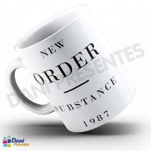 Caneca New Order - Capa do Disco Substance 1987