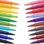 Caneta Paper Mate Flair Futura com 6 cores 0.7mm