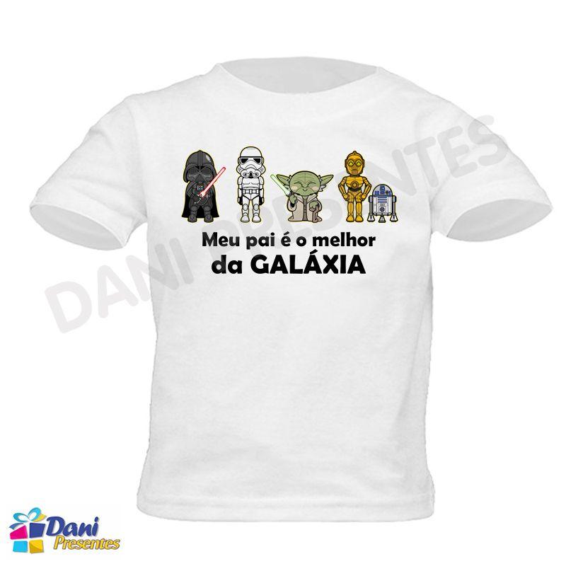 Body / Camiseta Star Wars - Meu pai é o melhor da Galáxia - 100% Algodão