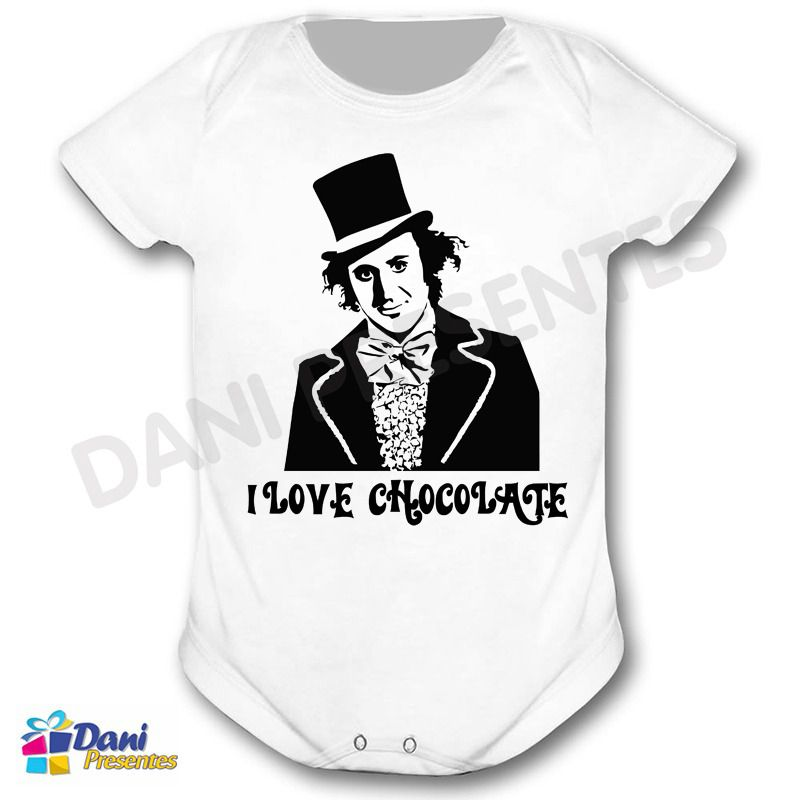 Camiseta A Fantástica Fábrica de Chocolate e Willy Wonka