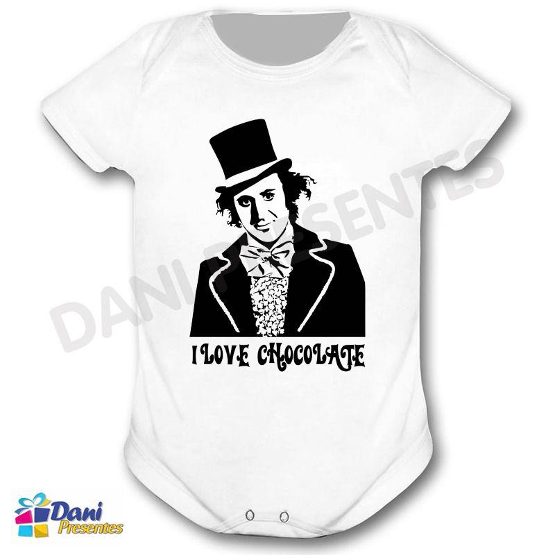 Camiseta A Fantástica Fábrica de Chocolate e Willy Wonka