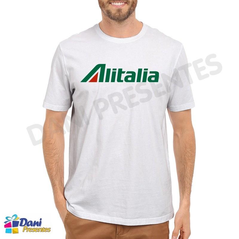 Camiseta Alitalia - Società Aerea Italiana - Aviação