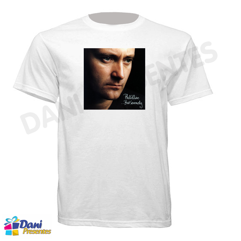 Camiseta Phil Collins - Capa do Disco