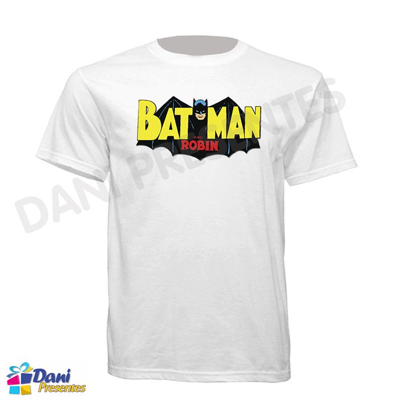 Camiseta Batman e Robin - Retrô