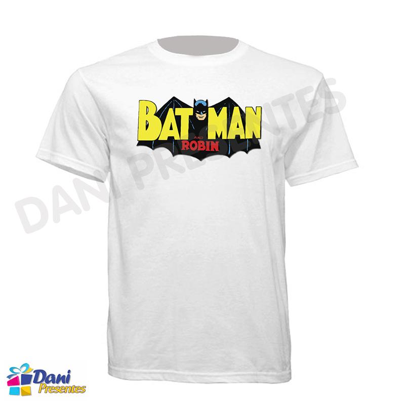Camiseta Batman e Robin - Retrô