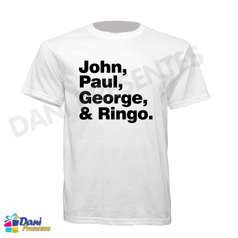 Camiseta Beatles Name