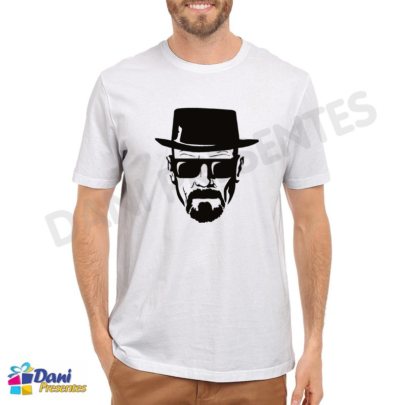Camiseta Breaking Bad Heisenberg Chapéu