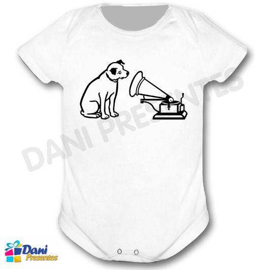 Camiseta Cachorro RCA com Gramofone