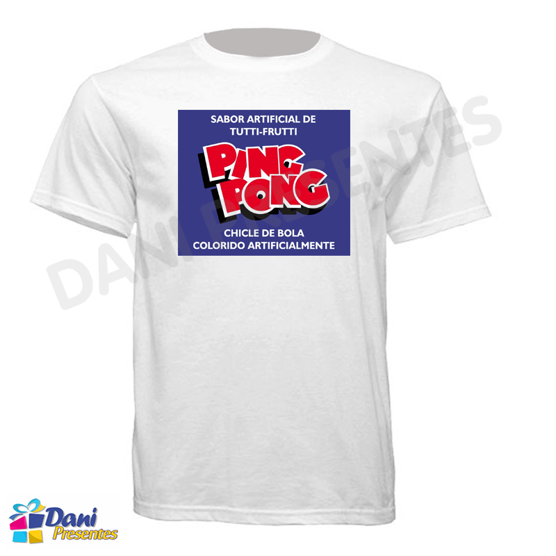 Camiseta Chicle de Bola Ping Pong