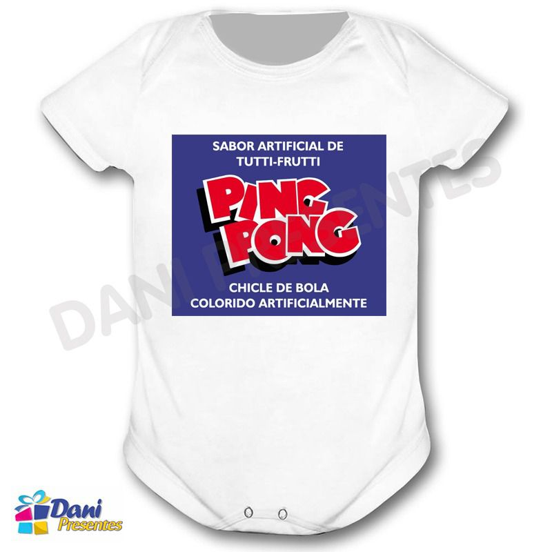 Camiseta Chiclete Ping Pong - Chicle de Bola Ping Pong