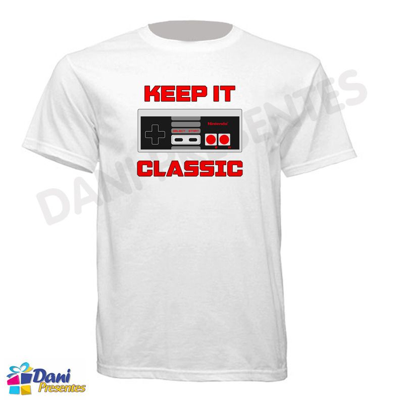 Camiseta Controle Keep It Classic Nintendo