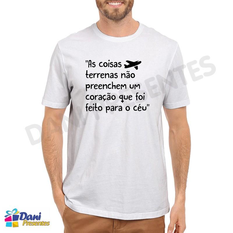 Camiseta Coração feito para o Céu - Aviação