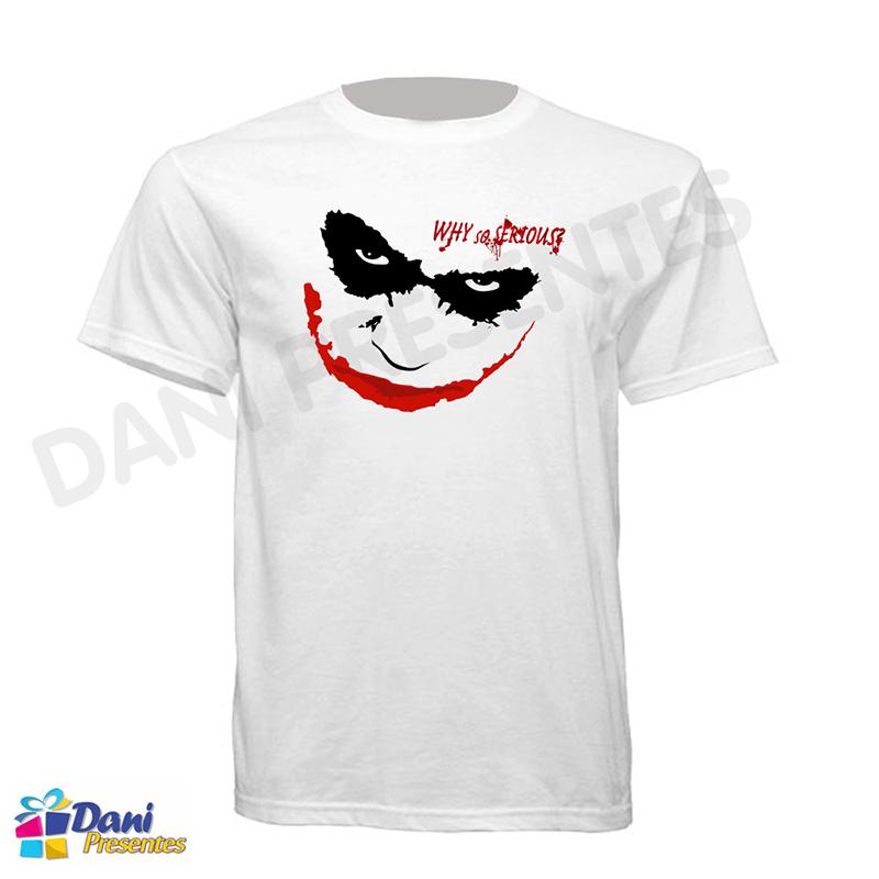 Camiseta Coringa - Why So Serious - Batman The Dark Knight