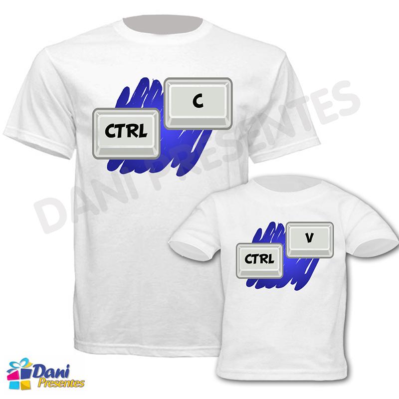 Camiseta Ctrl C + Ctrl V - 100% algodão