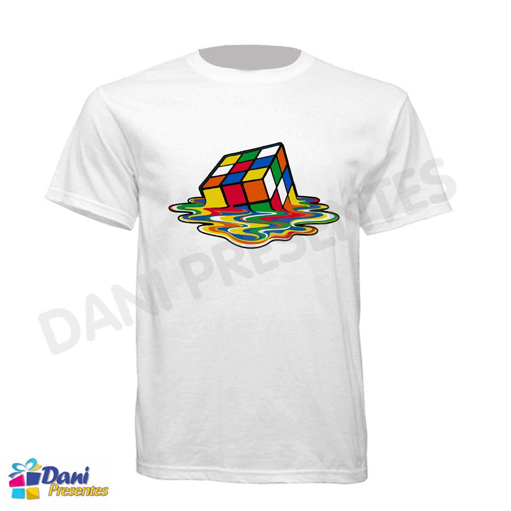 Camiseta Cubo Mágico Derretendo - Anos 80