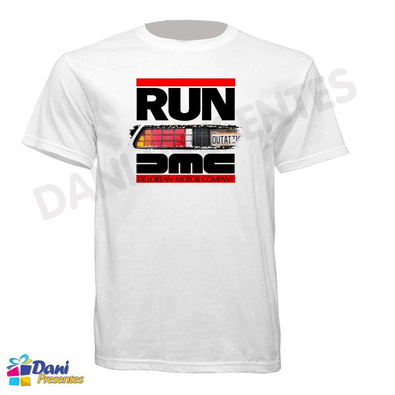 Camiseta De Volta para o Futuro com o Delorean