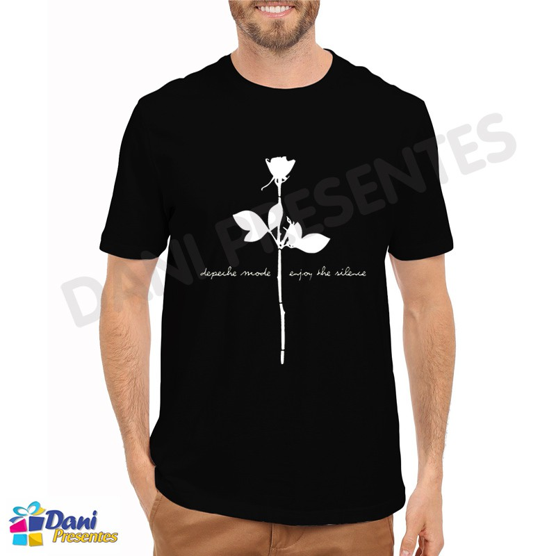 Camiseta Depeche Mode Enjoy the Silence - Preta
