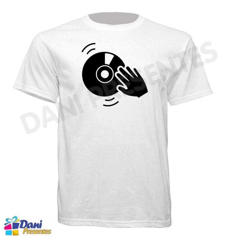 Camiseta DJ Scratch - Disco de Vinil