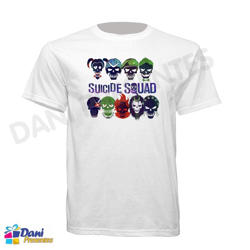 Camiseta Esquadrão Suicida - Super-Vilões