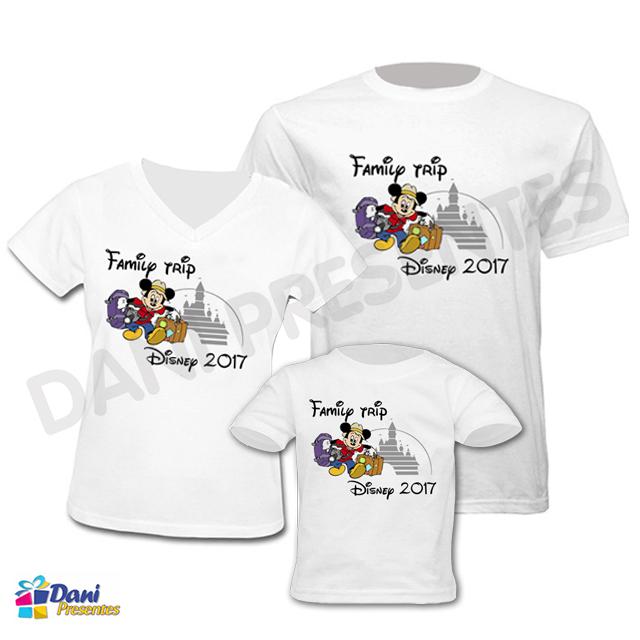 Camiseta Family Trip Disney - 100% algodão