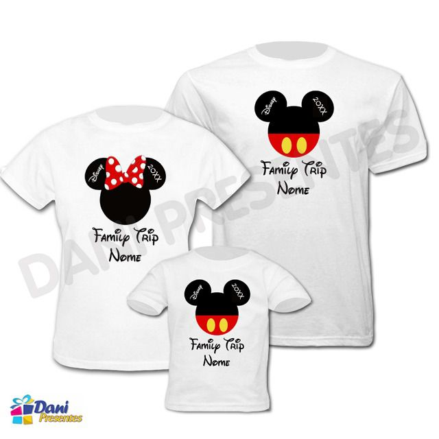 Camiseta Family Trip Disney com Nome - 100% algodão