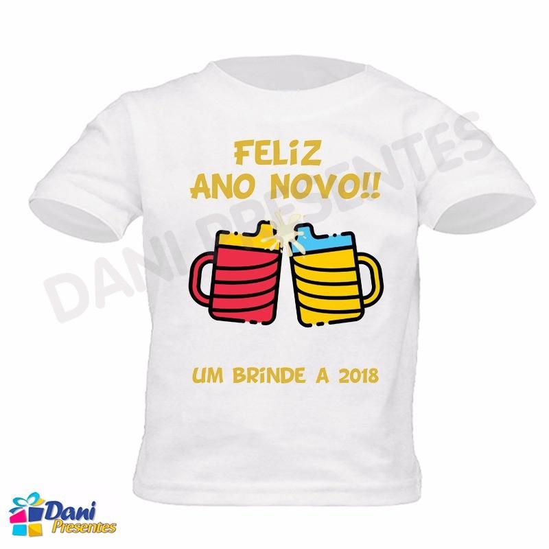 Camiseta Feliz Ano Novo Suco