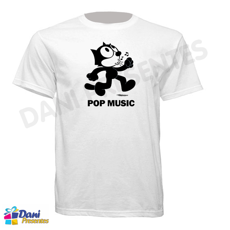 Camiseta Gato Felix - Pop Music