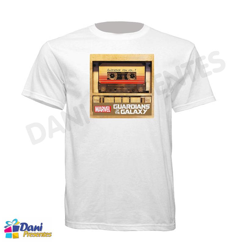 Camiseta Guardiões da Galáxia - Fita Cassete