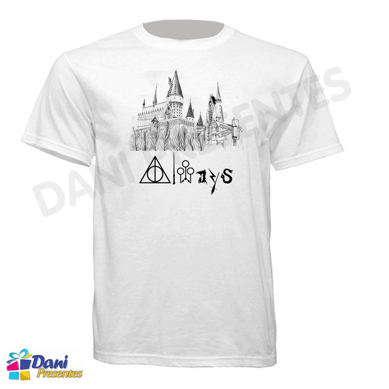 Camiseta Harry Potter Castelo Hogwarts - Always