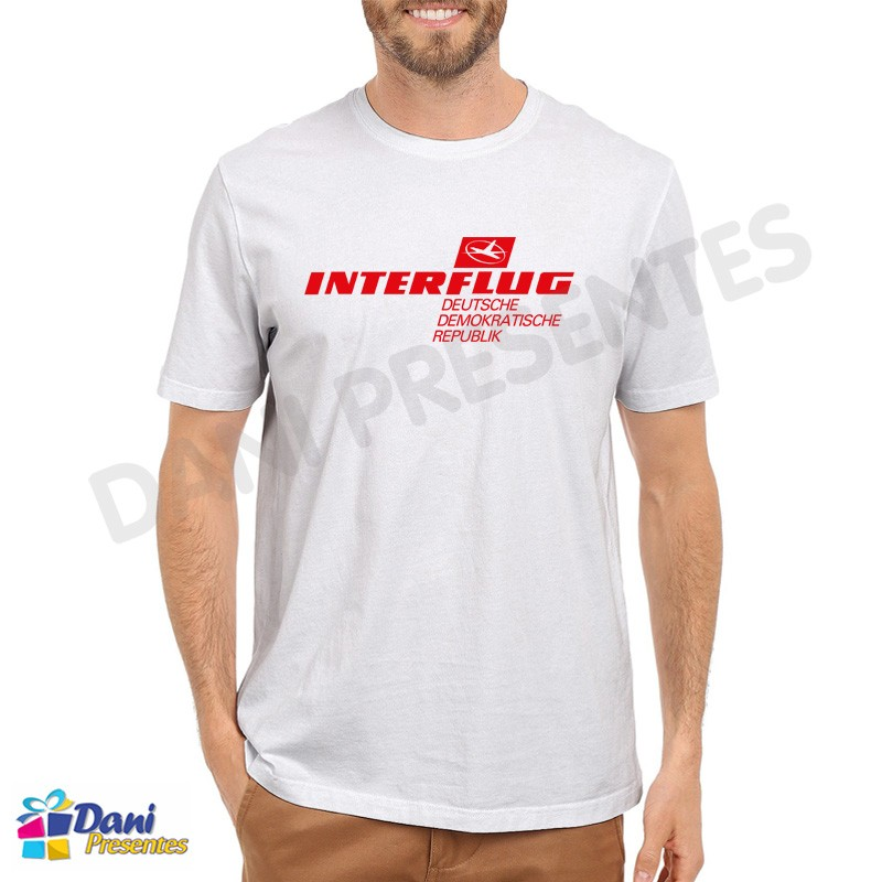 Camiseta Interflug Aviação