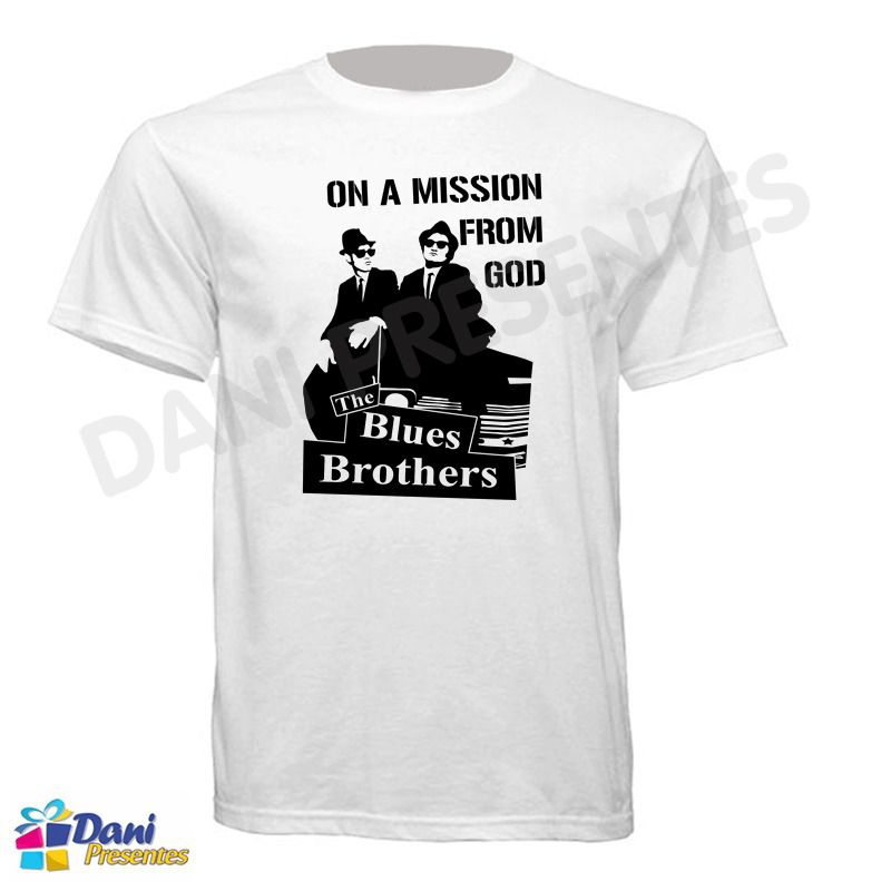 Camiseta Irmãos Cara de Pau - Blues Brothers