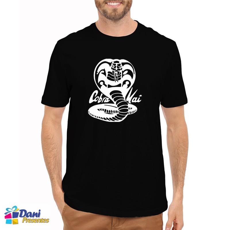 Camiseta Cobra Kai - Karatê Kid - Preta
