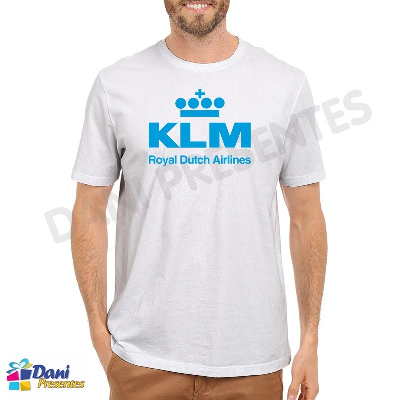 Camiseta KLM Royal Dutch Airlines - Aviação