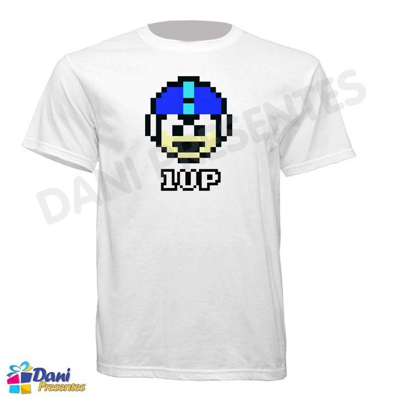 Camiseta Mega Man 1 Up - Nintendo - Retrô Game